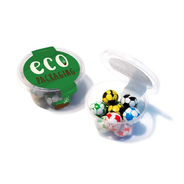 Eco Range – Eco Maxi Pot – Chocolate Footballs