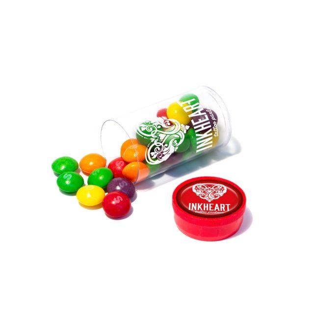 Clear Tube Mini – Skittles