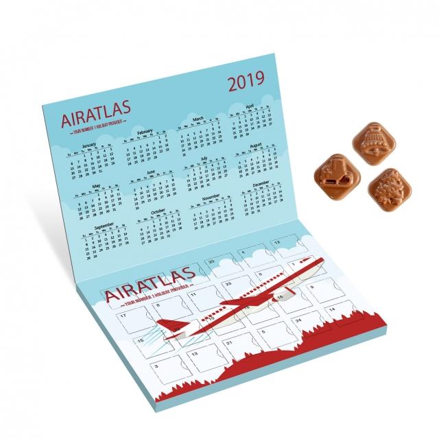 Winter Collection 2020 – Classic Calendar – Milk Chocolate – Flip Top