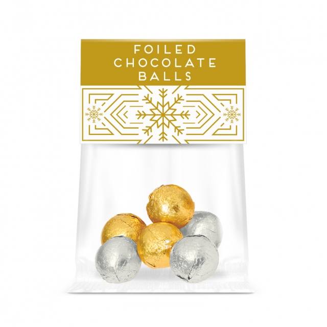 Eco Info Card – Foiled Chocolate Balls