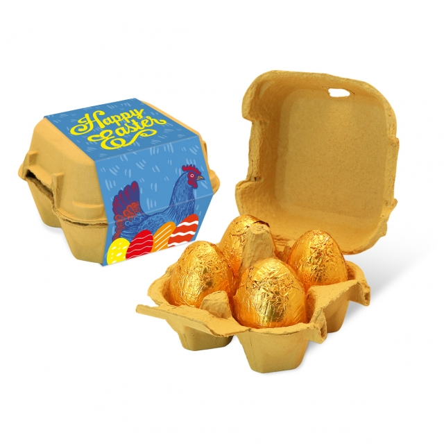 Easter – Egg Box – Gold foiled egg – x4