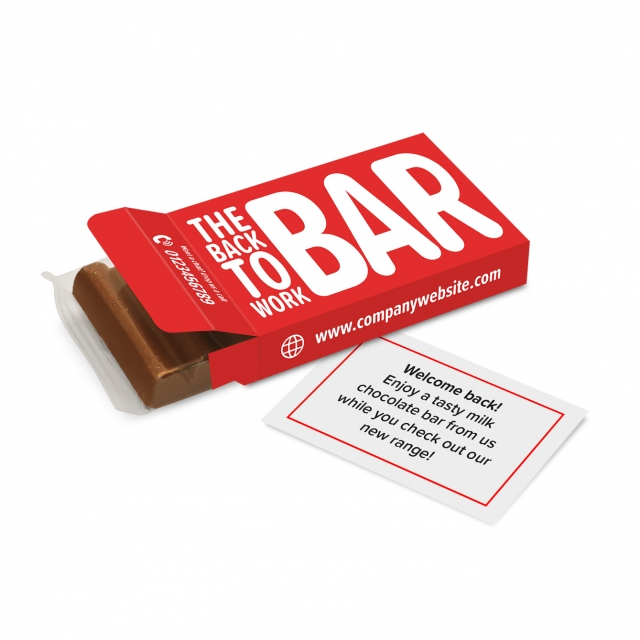 Eco Range – Eco 6 Baton Box – Chocolate Bar – 'Back To Work'