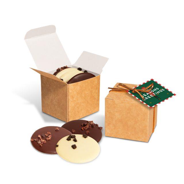 Winter Collection – Eco Kraft Cube – Chocolate Discs