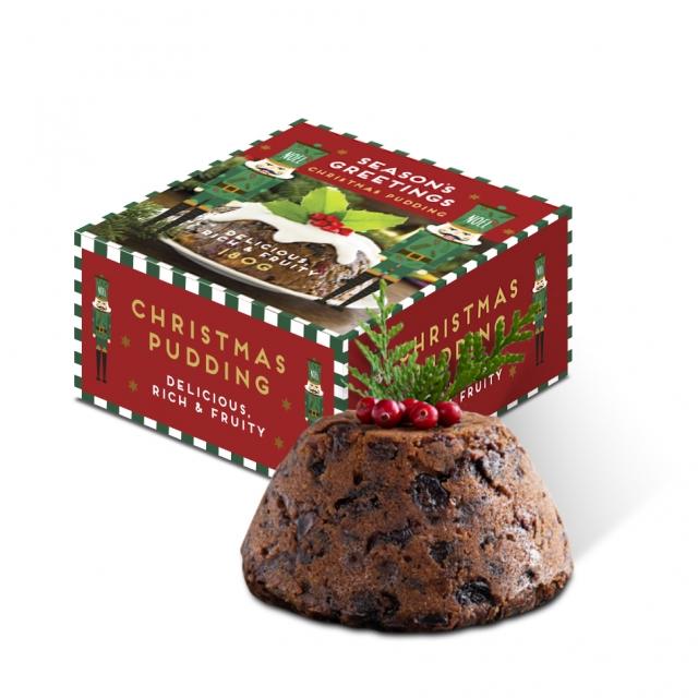 Winter Collection – Maxi Pudding Box – 180g Christmas Pudding