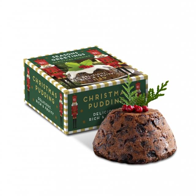 Winter Collection – Mini Pudding Box – 113g Christmas Pudding
