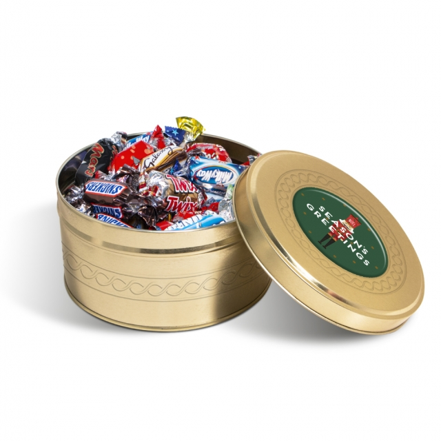 Winter Collection – Gold Treat Tin – Celebrations