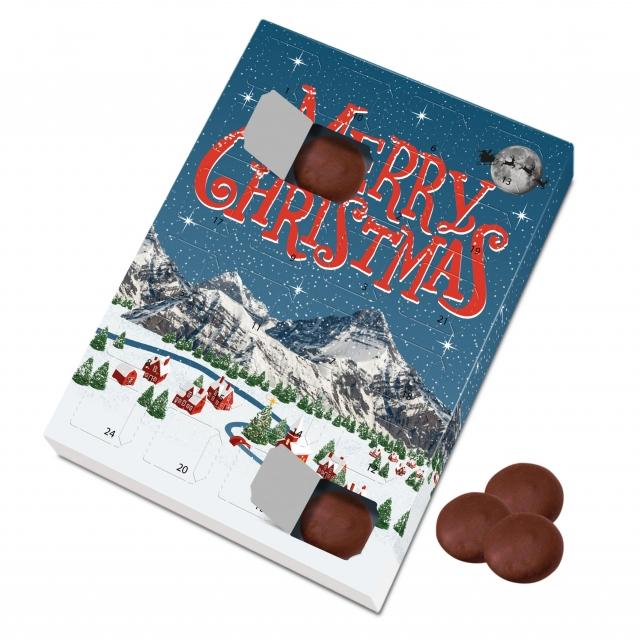 Winter Collection – Large Advent Calendar – Milk Chocolate Discs